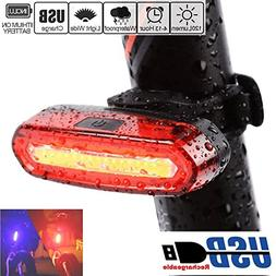 Bicycle Rear Taillight - Waterproof USB Rechargeable LED Saf