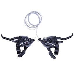 Alloet 21 Speed Bicycle Shifter Brake Conjoined DIP Deraille