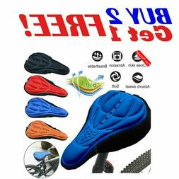 Soft Padded Bike 3D Gel Saddle Seat Cover Bicycle Silicone C