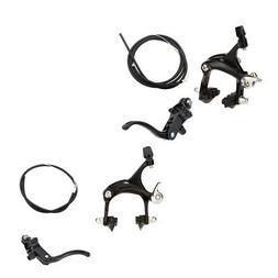 Bike Alloy Side Pull Bike Caliper Brake Lever Cable Set For