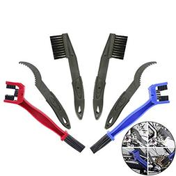 Creatiee 6Pcs Bike Bicycle Clean Brush Kit/Cleaning Tools, C
