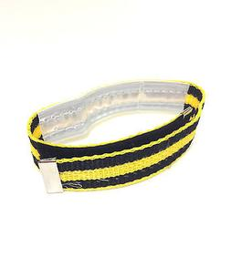 BIKE BICYCLE LEG PANTS BAND STRAP YELLOW RACER w/ HOOK & LOO