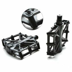 "Agptek Bike Bicycle Pedals 9/16"" MTB BMX Bearing Alloy Platf"