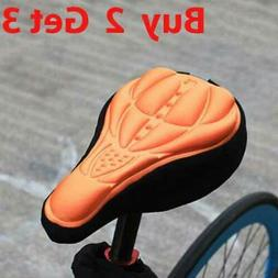 Bike Bicycle Silicone 3D Gel Saddle Seat Cover Comfort Pad P
