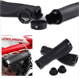 Bike Grips Rubber Mountain Bicycle MTB Handlebar Ergonomic C