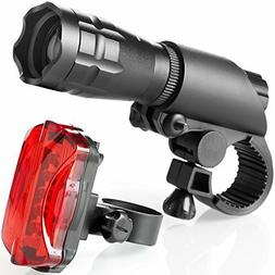 TeamObsidian Bike Light Set - Super Bright LED Lights for Yo