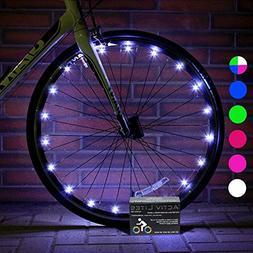 Activ Life 2 Pack White Bike Lights - Hot Gifts for Boys, Gi