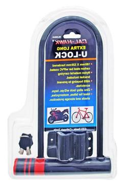Bike Motorcycle Bicycle U Lock Heavy Duty Anti Theft Extra L