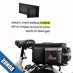 UPGRADE OCT '18: Bike Pannier Bag   Durable & Waterproof Nyl
