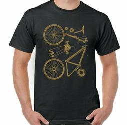 Cycling T-Shirt Bike Parts Mens Funny Cyclists Bicycle MTB R