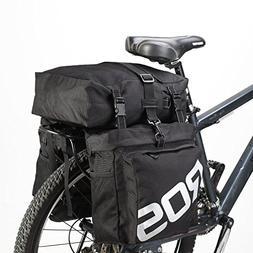 COTEetCI Bike Saddle Bag Bicycle Pannier Rear Rack Bag/Large