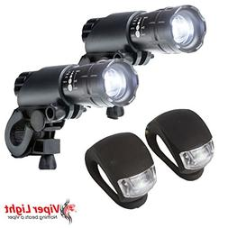 Bike Light Set - 300 Lumens Super Bright LED Lights Easy to