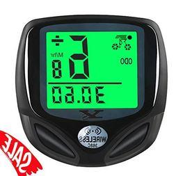 Speedometer For Bike Wireless LCD Digital Display Day Night
