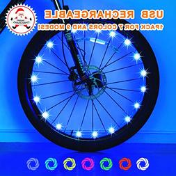 Exwell Bike Wheel Lights, 7 Colors in 1 Bike lights,Safety a