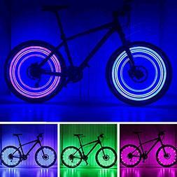 POLIYU Bike Wheel Lights 7 Color in One Super Cool Led Bike