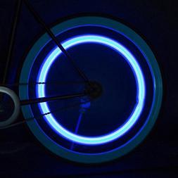 Binmer 4 LED Waterproof Bicycle Cycling Wheel Tyres Lamp Rid