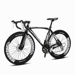 Cyrusher Black Aluminium Frame 54 cm 700C 70MM Mens Road Bik