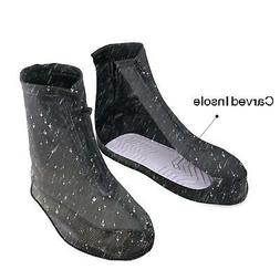 ARUNNERS Black Rain Shoes Covers Boots Overshoes Galoshes fo