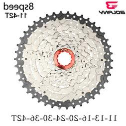 Bolany Silver 8 speed cassette 11-42T MTB mountain bike free