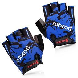 BOODUN BOODUNB2BLBKXL Cycling Gloves with Shock-Absorbing Fo