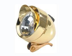 Bullet Light W/Visor 777 1/Bulb Gold. Bike light, bicycle li