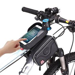 AKM Carbon Fiber Waterproof handlebar Bag Top Tube Bicycle F