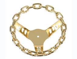 Chain Steering Wheel Gold.