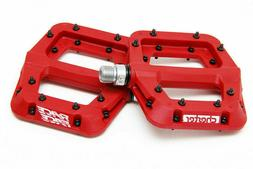 """Race Face Chester Composite Platform Pedals: 9/16""""  RED Pair"""