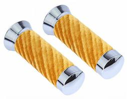 Chrome with Gold Velour Grips, Lowrider Bike Parts