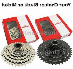 SunRace CSM680 8 Speed 11-40 Black OR Silver Bike Cassette f