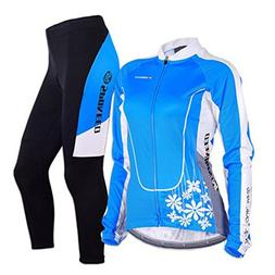 sponeed Women's Cycle Jersey Bike Clothing Gel Padded Long S
