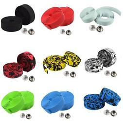 Cycling Bicycle Road Bike Cork Handlebar Grip Wrap Tape Ribb