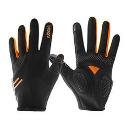 Stimmt Cycling Gloves, Touch Screen Full Finger Bike Gloves