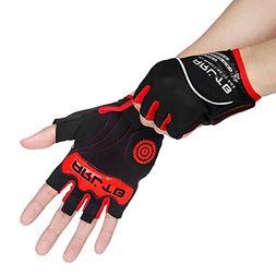 Arltb Cycling Gloves Bike Bicycle Gloves Padded Fingerless B