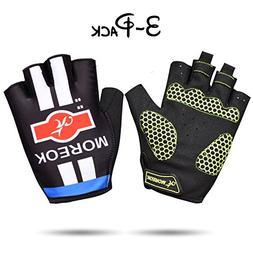 Hellhawk (TM Cycling Gloves Men Mountain Bike 5MM Gel Pad Sh