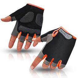 HuwaiH Cycling Gloves Men's/Women's Mountain Bike Gloves Hal