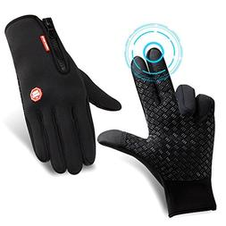 Cycling Gloves Warm Full Finger Touchscreen Windproof Waterp