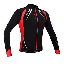 Santic Men's Cycling Jacket Windproof Fleece Thermal Winter