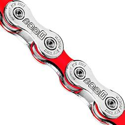 Taya 10 Speed DECA-101 Bike Chain- Silver/Color, 116L Road