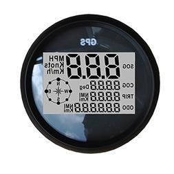 Sican 85mm Diameter Black Bezel MPH SOG COG ODO TRIP Meter F