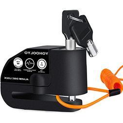 Disc Brake Lock Alarm Motorcycle and Bicycles Padlock with 1