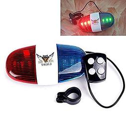 Durable Plastic 4-Tone Whistle Red and Blue Police Light Lam