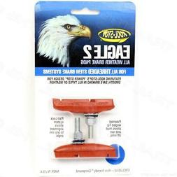 Kool-Stop Eagle Claw II Salmon Brake Pad Threaded Post
