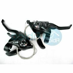 Shimano EF65 3 x 8 Speed Brake/Shift Levers Silver