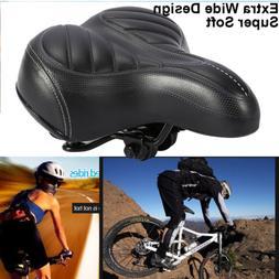 Extra Wide Big Bum Bike Bicycle Cycling Gel Cruiser Pad Sadd