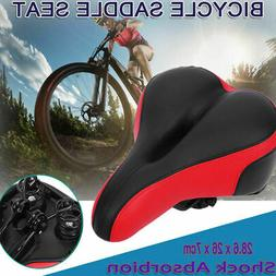 Extra Wide Big Bum Soft Comfort Sporty Bike Saddle Spring Se