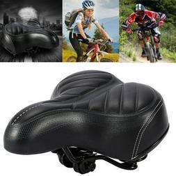 Extra Wide Big Soft Bicycle Saddle Comfort Sporty Bike Pad S