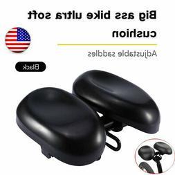Extra Wide Large Comfort Saddle Bicycle Seat Pad Soft Cushio
