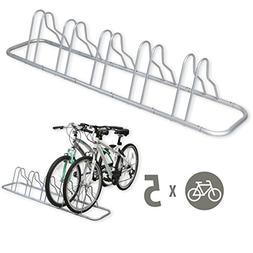 5 Bike Floor Parking Rack Storage Stand Holder Organizer Gro
