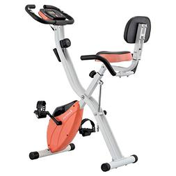 Harvil Foldable Magnetic Exercise Bike with Adjustable Resis